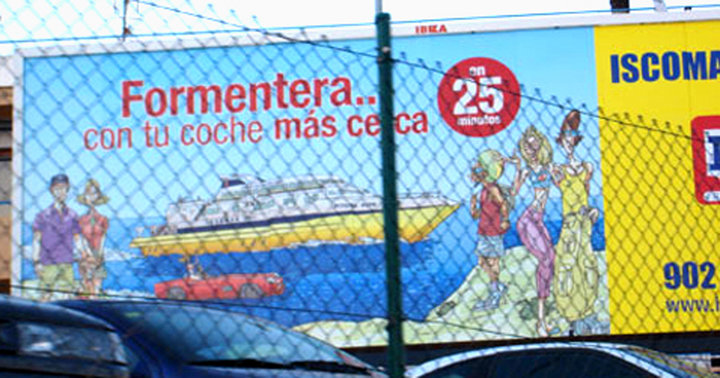 Iscomar Ferrys advertisement campaign Billboard