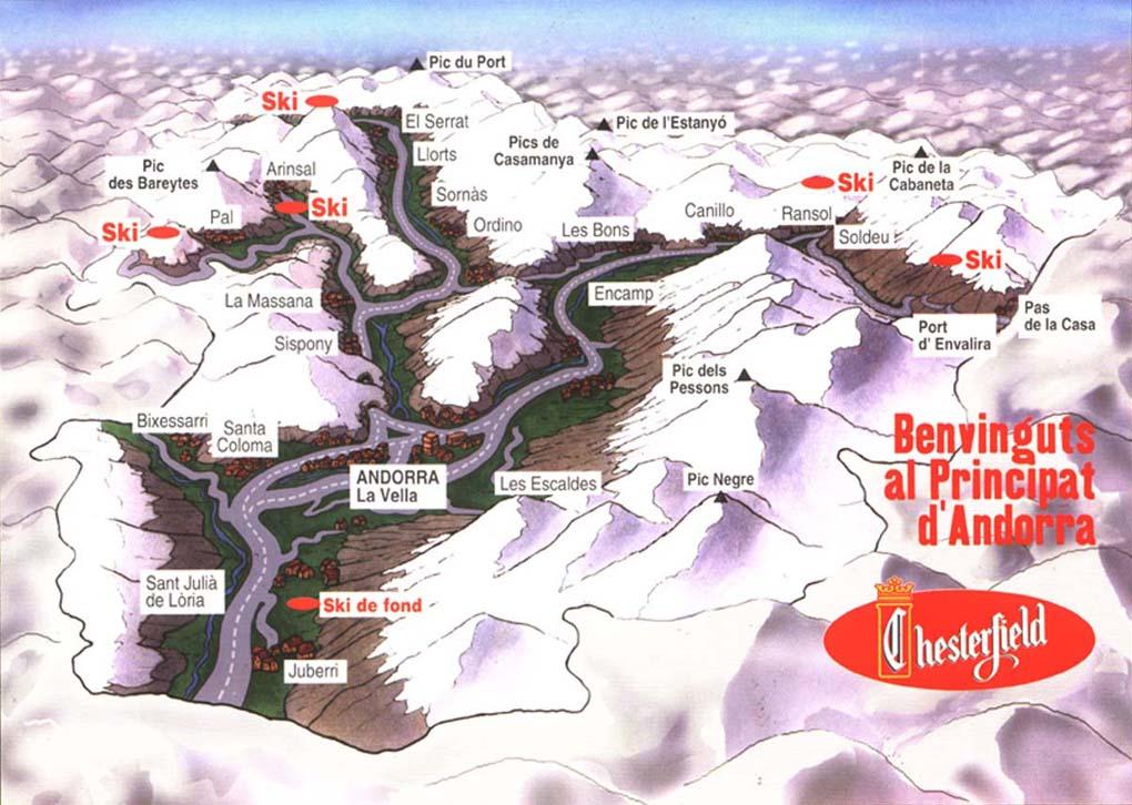 Mapa de Andorra- Chesterfield campaign