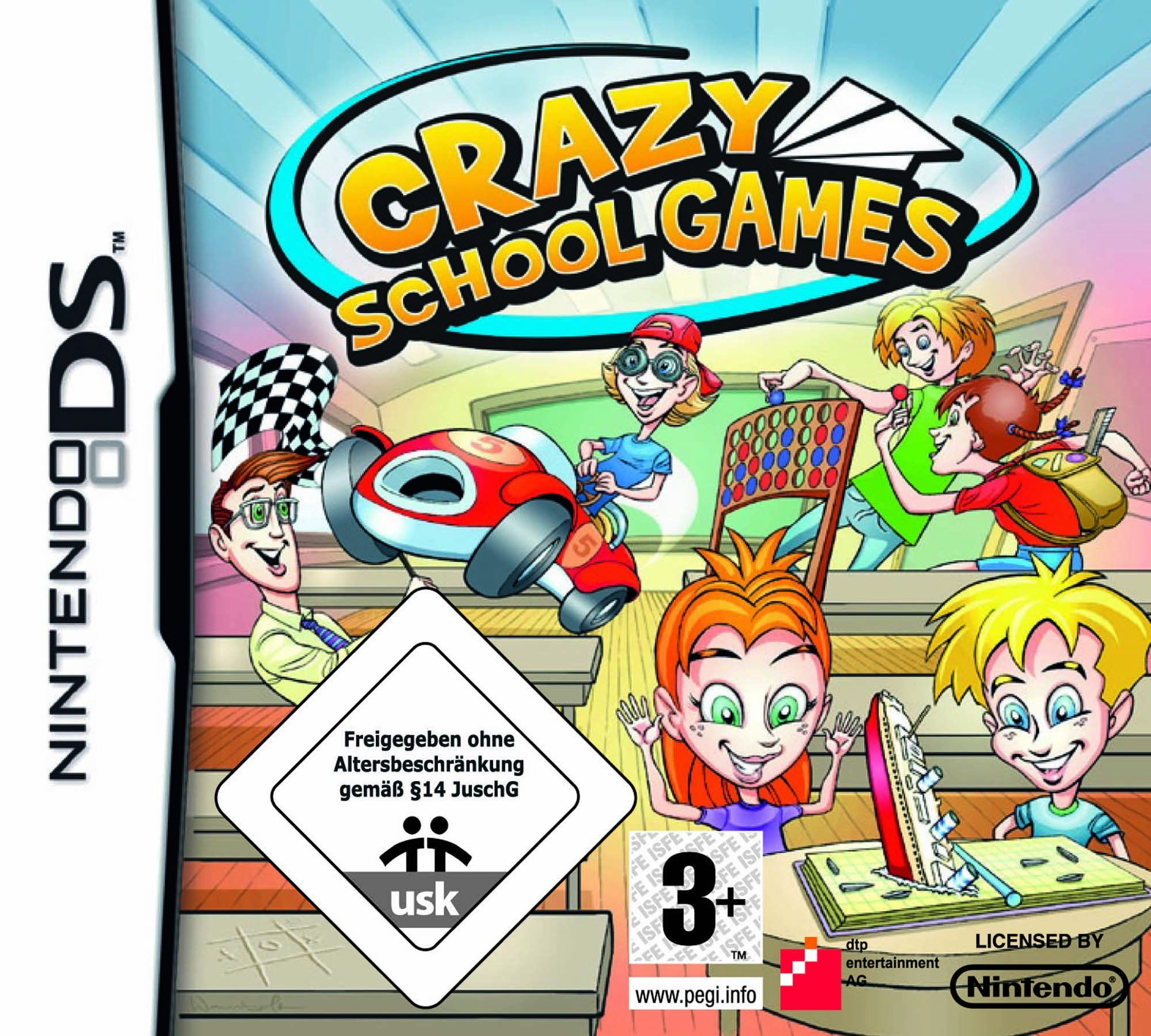 Nintendo Game Cover-Crazy School