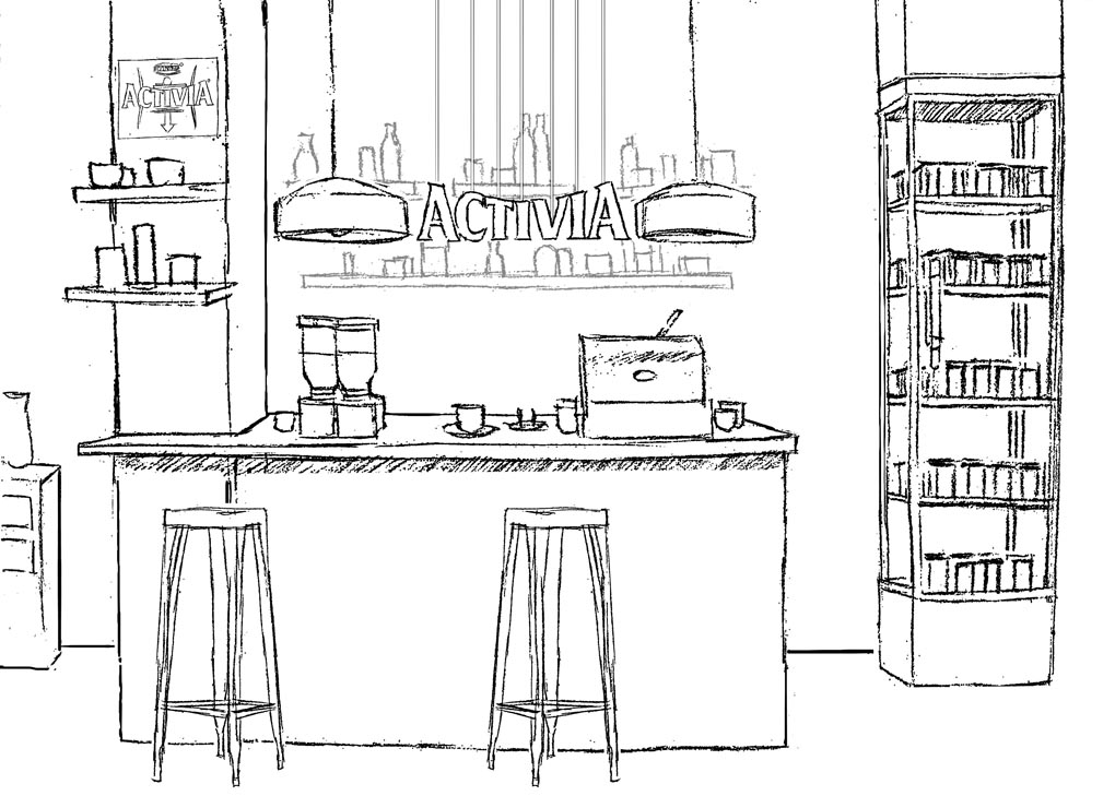 Production design sketch- Activia