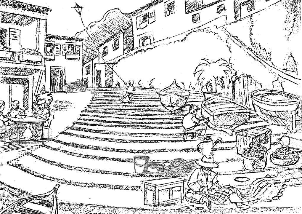 Production design sketch- Coop