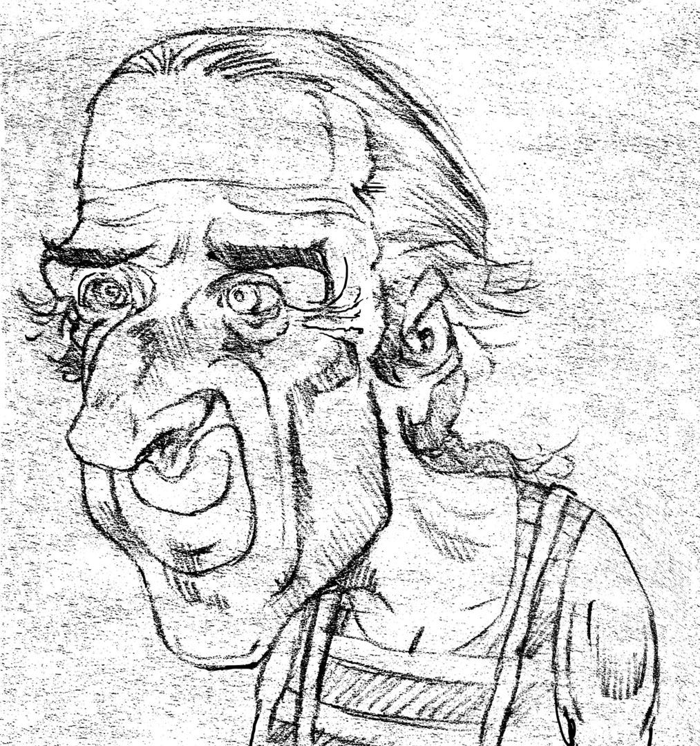 Jango Edwards-sketch