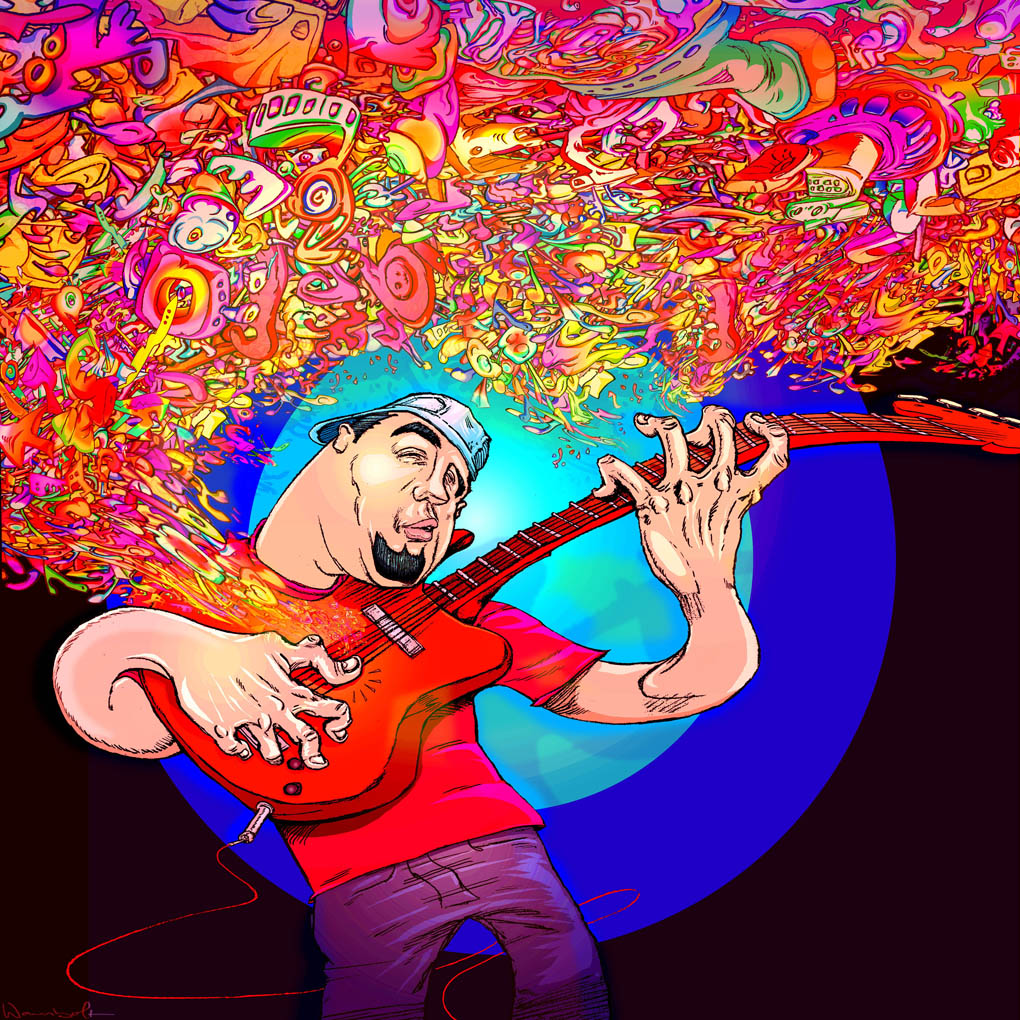 Promotional Illustration for Bassist VictorTugores