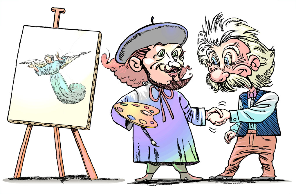 Art meets Science-Illustration for website