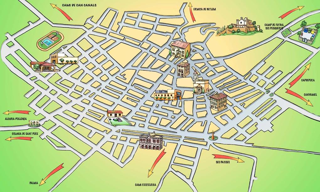 Mapa municipio de Artá- campaña reciclaje Ajuntament de Artá