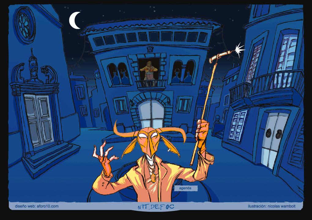 Ilustracion para el diseño web de la pagina web interactiva de la famosa fiesta de Mallorca Nit de Foc. En colaboracion con Diseño Web Mallorca Aforo10. Es muy divertida (hagan click en el link y pongan el sonido) Jejejeeee!!!! http://www.aforo10.com/nitdefoc/