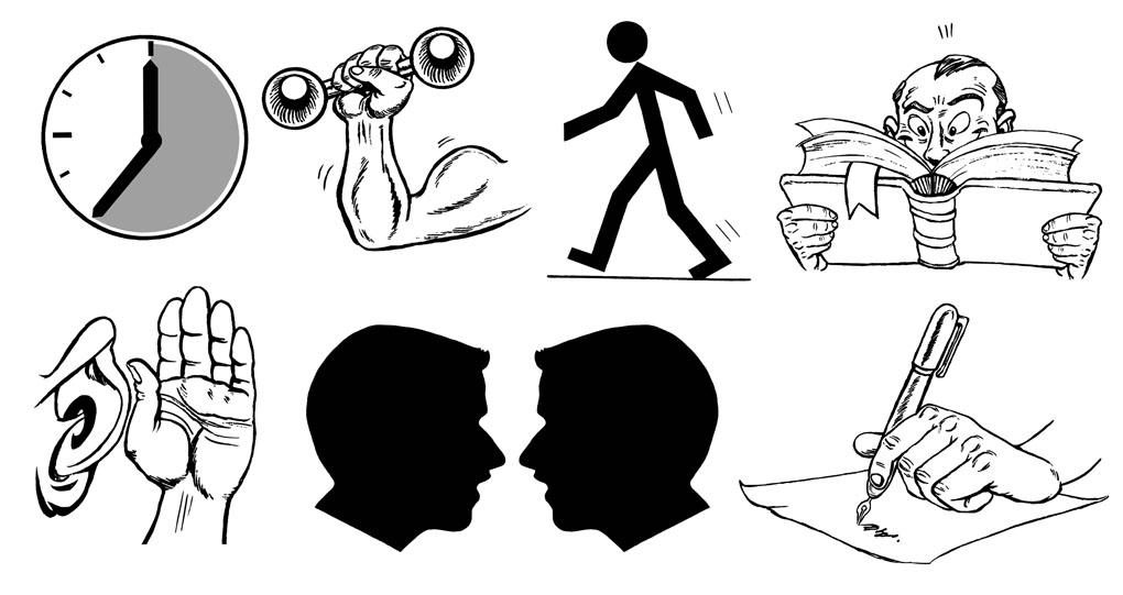 Icons-Book illustrations Cornelsen Verlag
