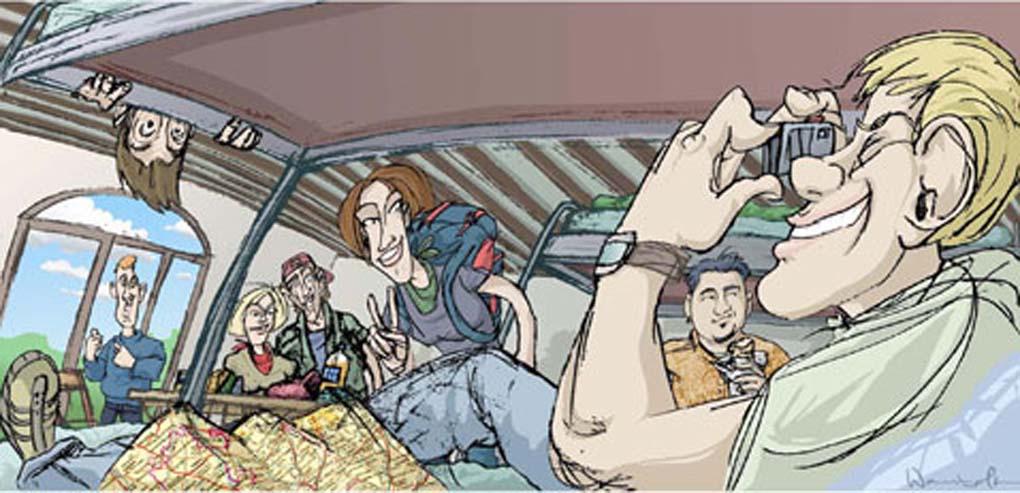 Ilustracion para articulo sobre Albergues Juveniles-El Pais Tentaciones