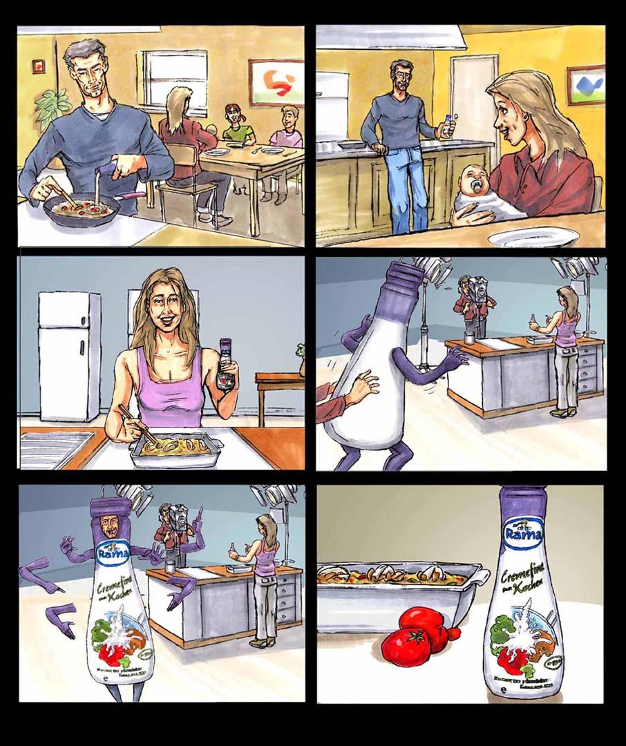 Cremefine Till Schweiger-Storyboard
